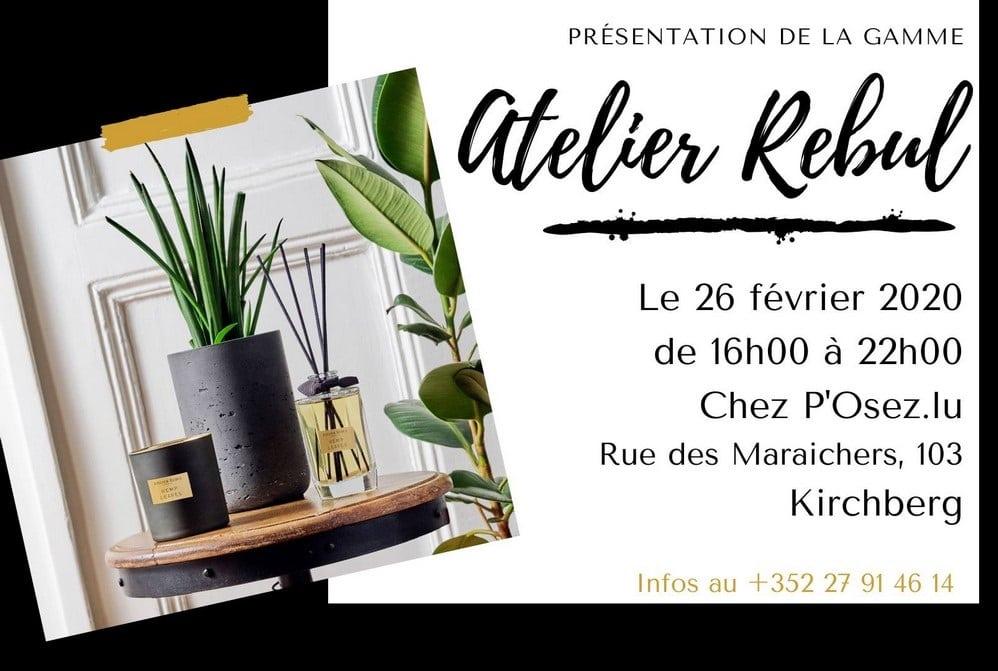Atelier Rebul au Luxembourg - Découvrez la gamme à l'institut de beauté P'Osez