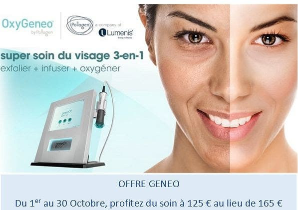 Promotion Geneo - Super soin visage Oxygeneo